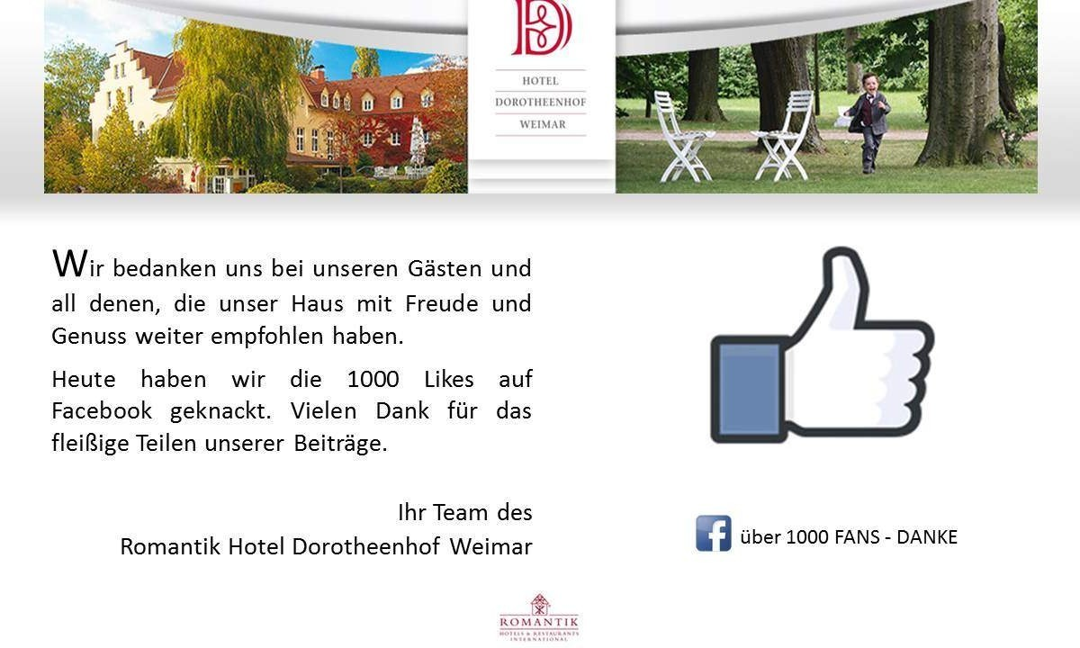 ... 1000 Fans sind geschafft ... ⋆ Wellnesshotel Weimar