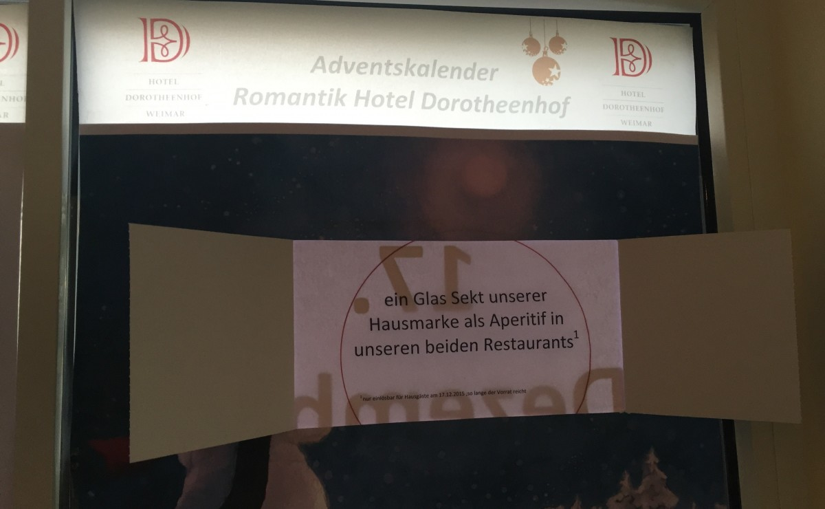 17. Adventskalender Türchen ⋆ Wellnesshotel Weimar