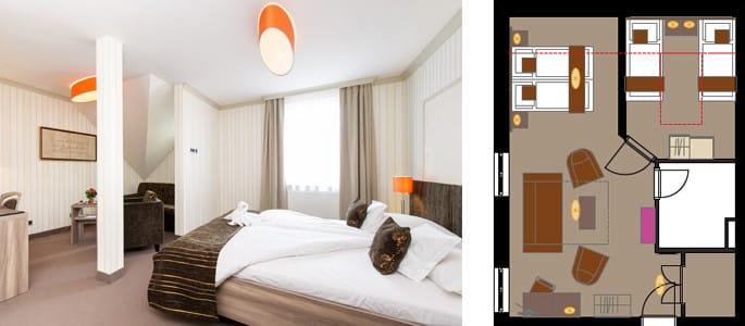 familiensuite weimar buchen komfortabel wohnen. Black Bedroom Furniture Sets. Home Design Ideas