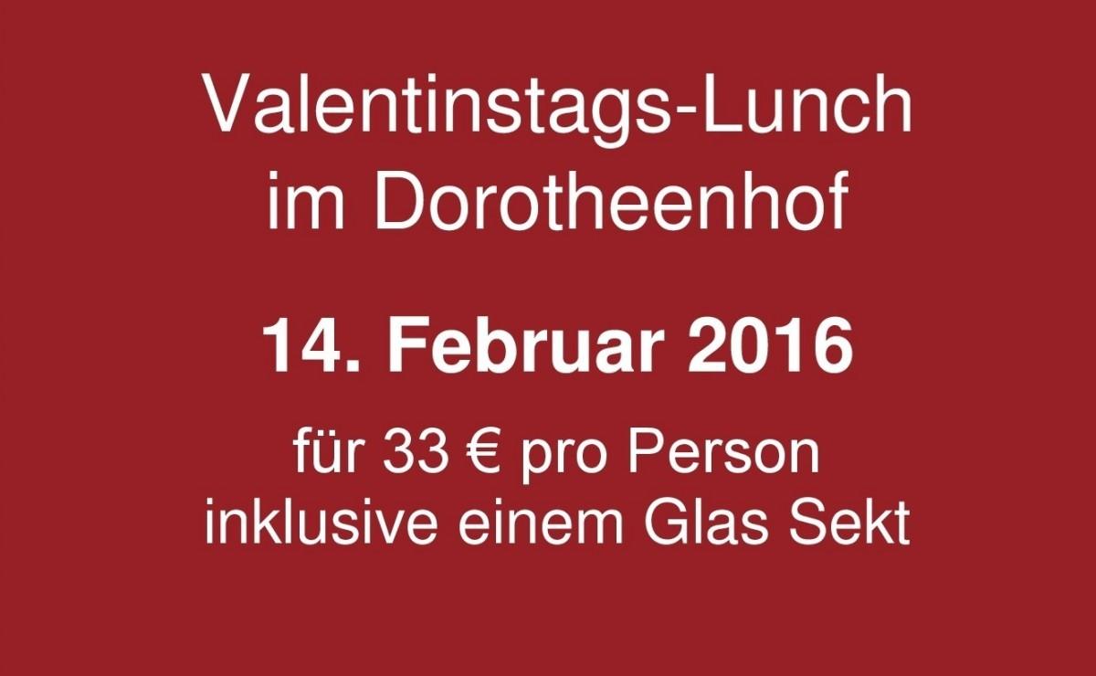 Lunch zum Valentinstag im Dorotheenhof Weimar ⋆ Wellnesshotel Weimar