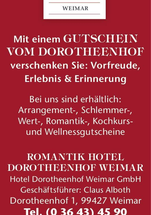 News ⋆ Wellnesshotel Weimar