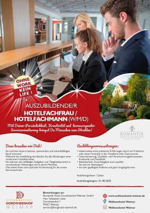 Auszubildende/r Hotelfachfrau / Hotelfachmann (w/m/d)