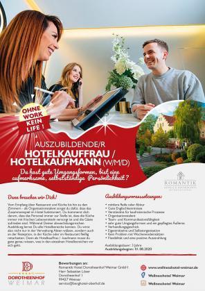 Auszubildende/r Hotelkauffrau / Hotelkaufmann (w/m/d)
