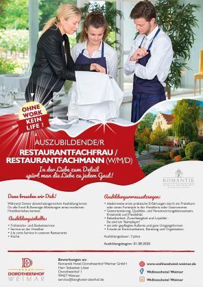 Auszubildende/r Restaurantfachfrau / Restaurantfachmann (w/m/d)