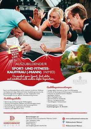 Auszubildende/r Sport- und Fitness-Kauffrau (-mann) (w/m/d)