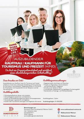 Auszubildende/r Kauffrau / Kaufmann für Tourismus und Freizeit (w/m/d)