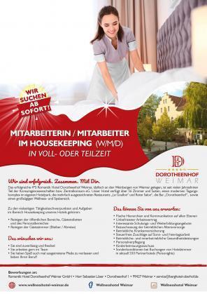 Mitarbeiterin / Mitarbeiter im Housekeeping (w/m/d)