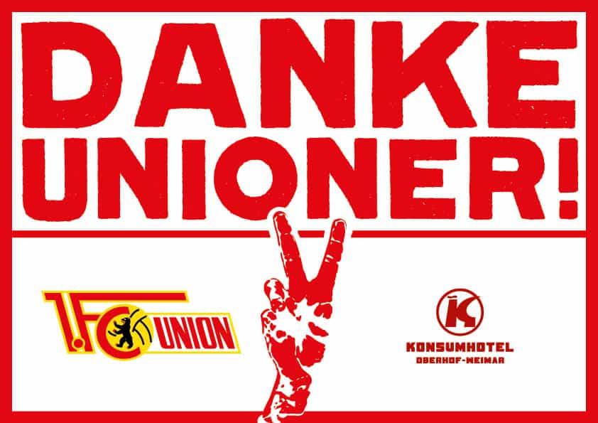 Danke,Unioner!